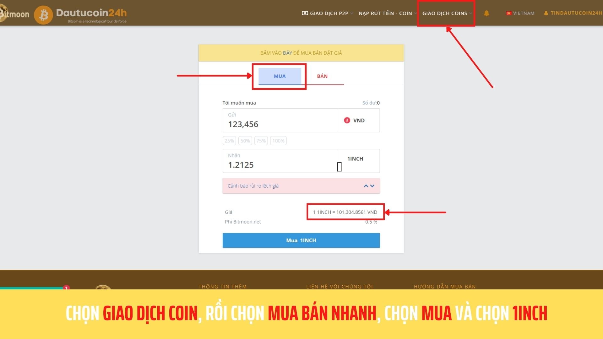 Giao dịch Coin nhanh